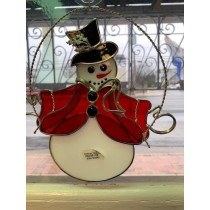 Snowman Suncatcher Stained Glass