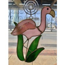 Flamingo Stained Glass